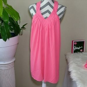 NWOT Buddy Love Open T-Back pink/Salmon Size Lg